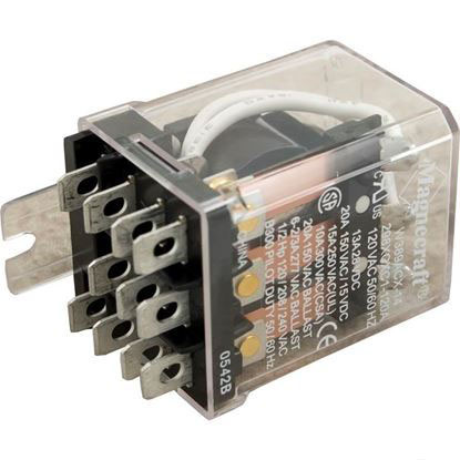 Picture of Relay, 3PDT, 25A, 115v, Dustcover