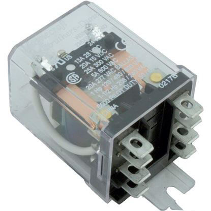 Picture of Relay, Dayton, DPDT, 15A, 24vdc, Coil, Dustcover