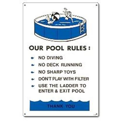 Picture of ABOVEGROUND POOL REGULATIONS PM41370