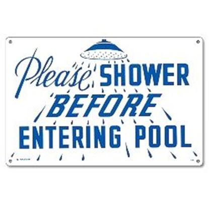 Picture of SIGN - PLEASE SHOWER PM40320