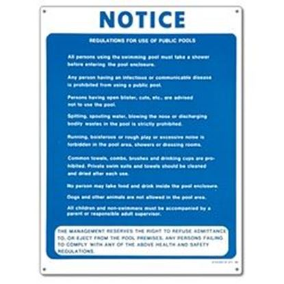 Picture of SIGN - PUBLIC POOL RULES PM40368